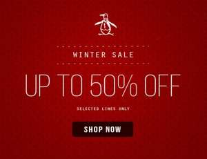 Original Penguin Winter Sale - Up to 50% off selected lines (Plus extra 10% off using code)