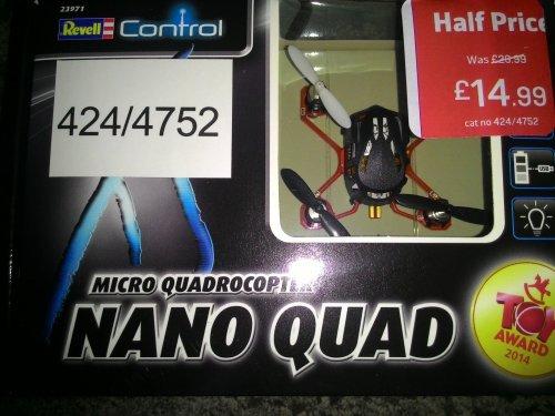 Revell Control XS Micro Quadrocopter Nano Quad (rc radio controlled quadcopter) £14.99 in Argos