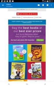 Scholastic from 99p book sale starts Christmas Day
