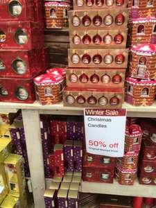 50% off Christmas trees lights colony candles Yankee candles @ Van Hages