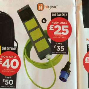 Hi Gear premium 3-way mobile mains kit £25 @ Go Outdoors in store, only on Boxing Day
