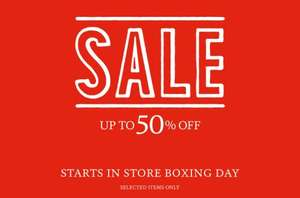 FatFace Sale up to 50% online now and instore on Boxing Day
