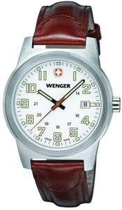 Wenger Field Classic Men's Quartz Watch with White Dial Analogue Display and Brown Leather Strap 72801W £54 @ Amazon