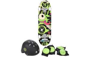 Skateboard pack including helmet and pads at £9. Halfords