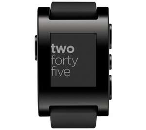 Pebble Smartwatch black on sale online £44.99 @ currys!