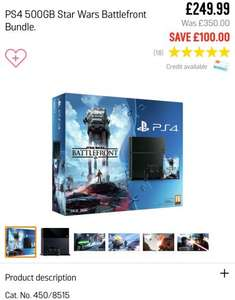PS4 500GB or 1TB consoles bundles both colours @ ARGOS from £232.00