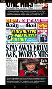 £5.00 off food at m&s when you spend £30.00 voucher inside today Daily mail