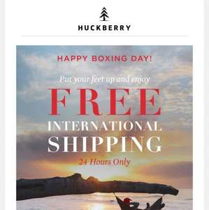 Huckberry now with Free International Shipping