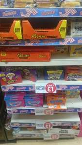 Assorted American sweets/chocolate/cereal in poundworld
