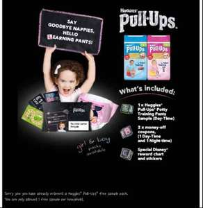 free sample by Huggies for potty training