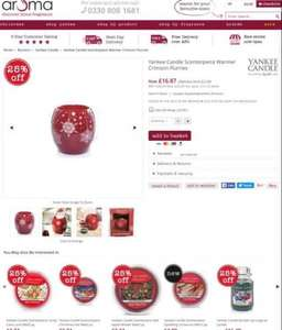 Yankee Candle Scenterpiece Warmer Crimson Flurries