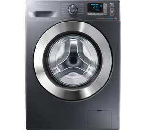 SAMSUNG ecobubble WF90F5E5U4X Washing Machine - 9 kg, Five-year manufacturer's guarantee, 10 year warranty on inverter motor, Currys, £399, or possibly £359 after Quidco