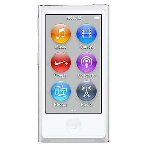 Apple iPod nano, 16GB, White & Silver £99.99 from John Lewis