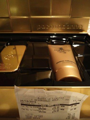Pack Rabanne 1 million 50ml EDT & shower Gel set £20 Boots