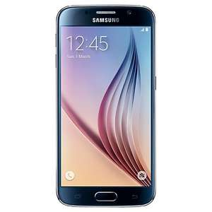 "Samsung Galaxy S6 Smartphone, Android, 5.1"", 4G LTE, SIM Free, 32GB, Black and Samsung Wireless Charger £379.95 @ John Lewis"