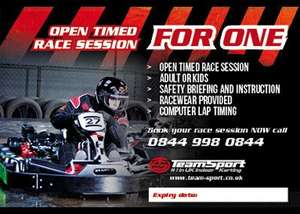 Karting £15 - 48hr FLASH SALE. Between 40% & 60% off. Order by 28 Dec. Use by  31 Mar. @ team-sport