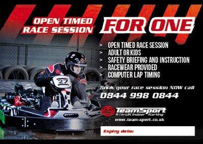 Karting £15 - 48hr FLASH SALE. Between 40% & 60% off. Order by 28 Dec. Use by  31 Mar. @ team-sport
