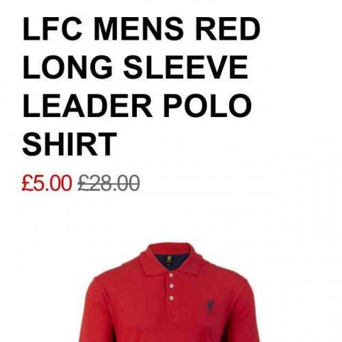 Mens LFC Polo Shirt £5 @ LFC store