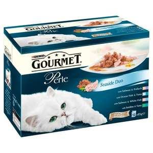 Purina Gourmet Perle Seaside Duo Wet Cat Food 12 x 85 g (Pack of 4) - £6.88 sub & save (after voucher) @ Amazon