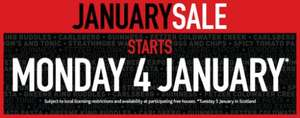 Wetherspoons January sale - 4th January (5th Scotland)