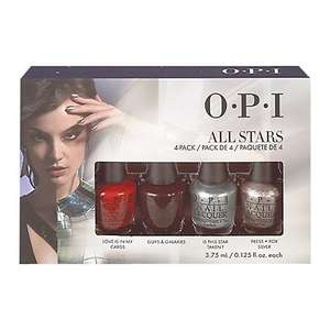 OPI All Stars Starlight Holiday Collection Mini Pack, 4 x 3.75ml John Lewis Half Price