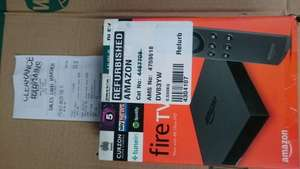 Amazon Fire TV Box £49.99 4k & normal version refurb at Clearance Bargains (Argos) Walsall Instore