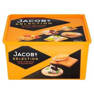 Jacobs cracker selection 900g at Tesco was £8 NOW £2