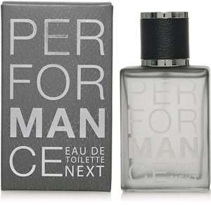 Next PerforMANce EDT 100ml now reduced in all Next outlet stores