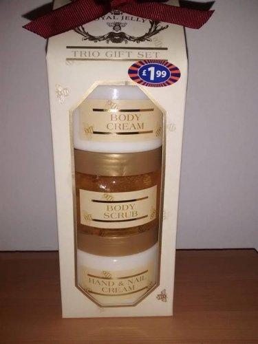 Royal Jelly Trio Gift Set (Body Cream and Scrub plus Hand & Nail Cream) £0.10 @ B&M (Blantyre)