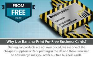 50  FREE * business cards - Postage & Packaging  £2.51 @ Bananna Print