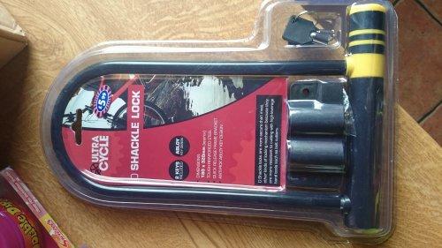 D Bike Lock was £5.99 now £2.99 @ B&M