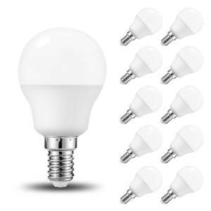 10-Pack Day White Lohas 5W G45 E14 LED Light Bulbs, Edison Screw Base, 35W Incandescent Bulb Equivalent, 6000K, 400lm [Energy Class A+] £21.99 Sold by LED-365BUY and Fulfilled by Amazon