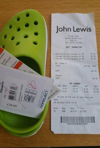 Kids Crocs Was £25 Now £5! John Lewis in store!