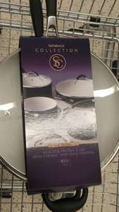 Sainsburys Collection 30 cm ceramic frying pan/wok with lid and 10 yr guarantee £15 instore