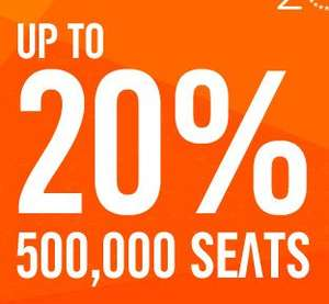 Easyjet 20th Birthday Sale - 20% OFF 500,000 seats
