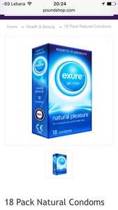 18 Pack Exure Natural Condoms £1.00 @ Poundshop
