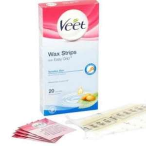 Veet Wax Strips with Easy Grip for Sensitive Skin x20 £3.13 (was £6.29) @ superdrug.com