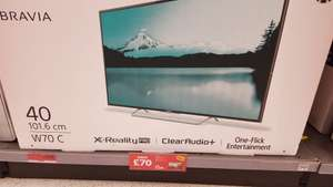 Sony Bravia 40w705c 40 inch widescreen full HD 1080p led tv £320 @ sainsburys instore