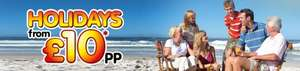 £10 per person holidays from breakfree (Passwords needed From 2nd Jan via local paper))