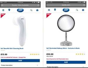 No7 illuminated mirror & no7 cleansing brush - BOTH for £28.00 @ Boots !! possibly £25.20