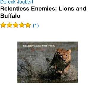 National Geographic ~ Relentless Enemies: Lions and Buffalo large coffee table book / natural history £1 at poundland (£35 at Amazon)