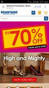 Up To 70% OFF @ Brantano