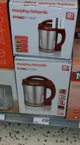 morphy Richards soup maker £38 in morrisons (instore)