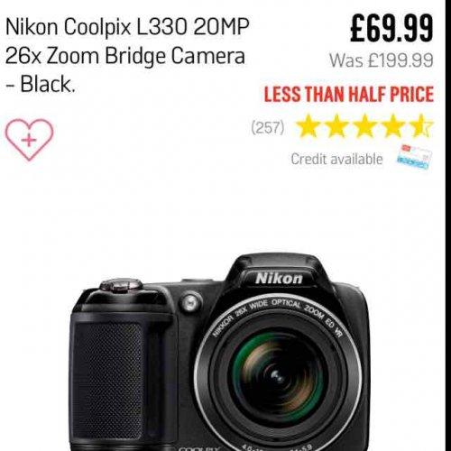 Nikon Coolpix L330 £69.99  @ Argos