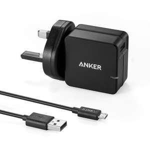 Qualcomm Certified Anker Quick Charge 2.0 18W USB Turbo USB Wall Charger - £7.99 prime / £11.98 non prime @ Amazon