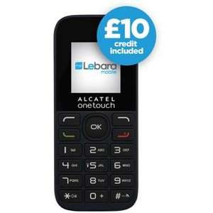Alcatel 10.13X with £10 credit on Lebara £9.99 @ Argos
