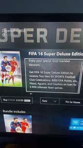 Fifa 16 Super Deluxe Edition including 8000 fifa points just £32 @ Xbox