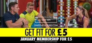 DW Fitness Clubs Gyms £5 January membership