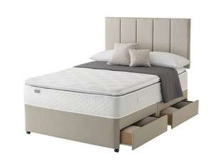 Silentnight Stratus Miracoil Geltex Pillow Top 4-Drawer Divan Bed, King Size, Sandstone delivered £577.99 @ Amazon