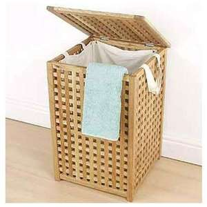 Solid Wood Laundry Bin- Walnut Lattice 606485 £24.99 @ homebase